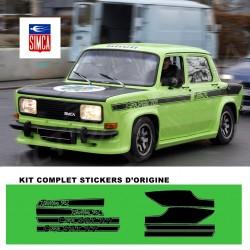Autocollant adhésif vinyle pour simca rallye 2 srt 1977