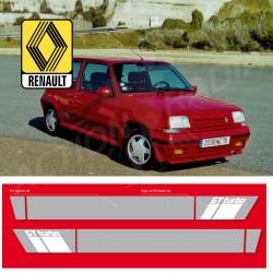 Autocollant adhésif vinyle pour Renault GT Turbo Phase 2