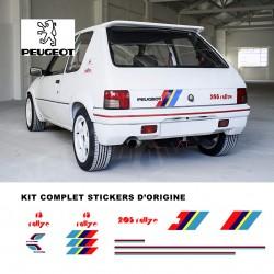 Autocollant adhésif vinyle pour Peugeot 205 Rallye