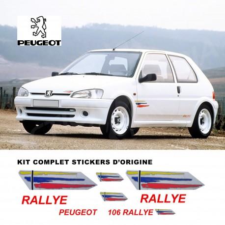 Autocollant adhésif vinyle pour Peugeot 106 Rallye Phase 2