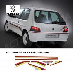 Autocollant adhésif vinyle pour Peugeot 106 Rallye Phase 1