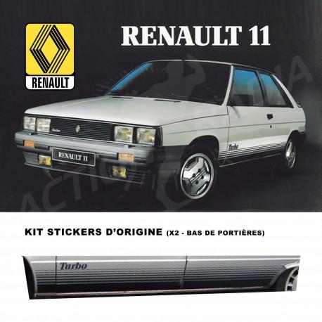 Autocollant adhésif vinyle pour Renault R11 TURBO