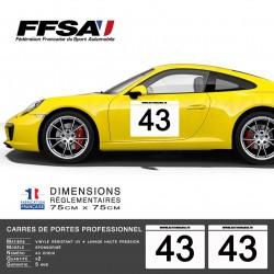 Autocollant adhésif vinyle Plaque numéro réglementaire pour automobile