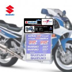 Autocollant adhésif vinyle kit complet - SUZUKI GSX-R 750 1991 bleu et blanc