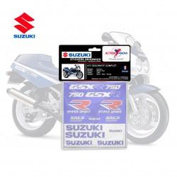 Autocollant vinyle - SUZUKI GSX-R 750 1990 tricolor