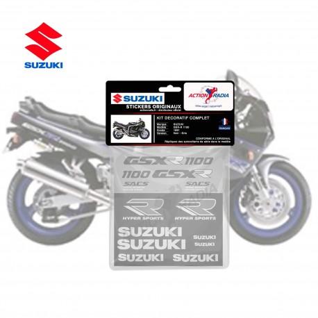 Autocollant vinyle - SUZUKI GSX-R 1100 1990 noir et gris