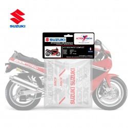 Autocollant vinyle - SUZUKI GSX-R 1100 1990 noir et rouge