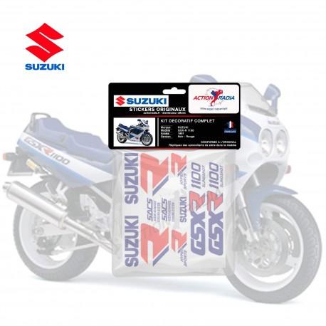 Autocollant vinyle - SUZUKI GSX-R 1100 1990 bleu et blanc