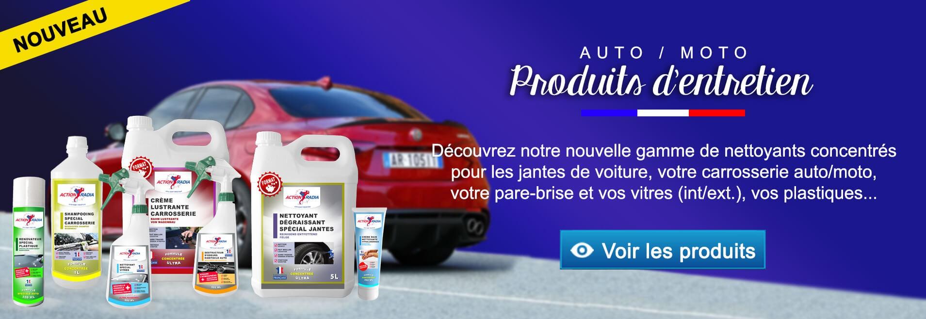Produits nettoyage voiture et moto